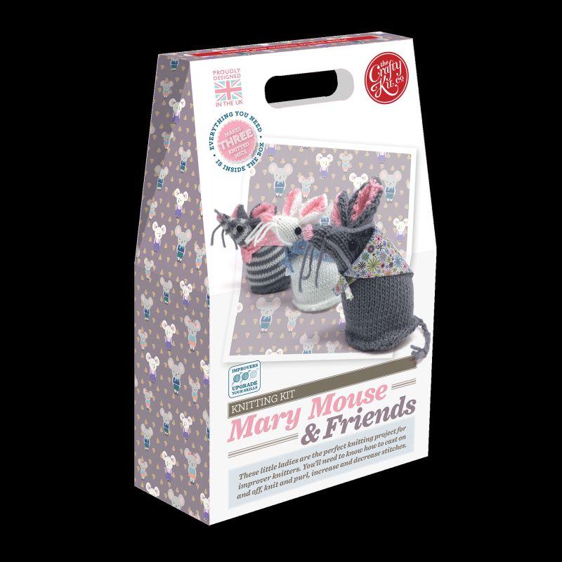 Crafty Kit Company: Mary Mouse & Friends Knitting Kit