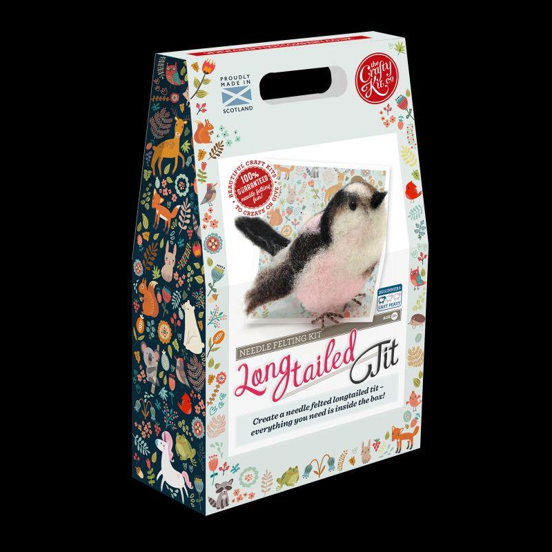 Crafty Kit Company: British Birds Long Tailed Tit Needle Felting Kit