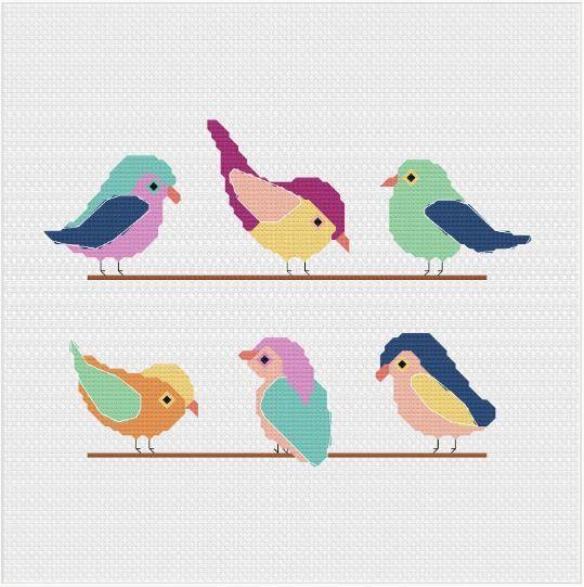 Meloca Cross Stitch Kit Designs: Bird Cross Stitch Full Kit #2