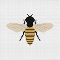 Meloca Cross Stitch Kit Designs: Bee Cross Stitch Full Kit