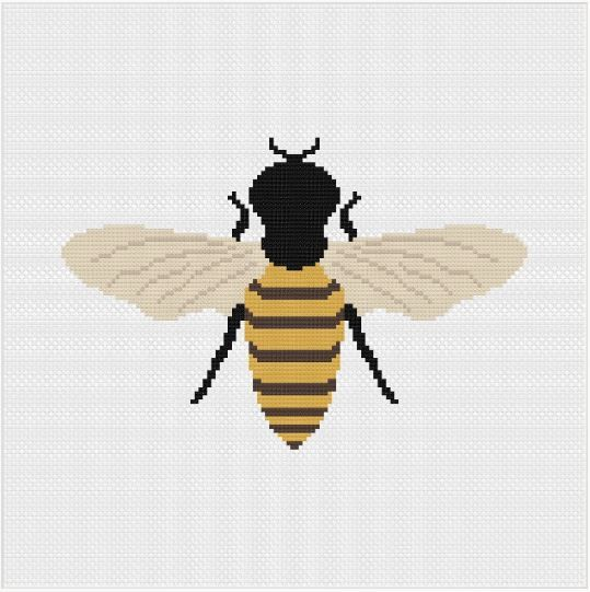 Meloca Cross Stitch Kit Designs: Bee Cross Stitch Full Kit