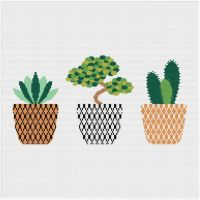 Meloca Cross Stitch Kit Designs: Cactus Cross Stitch Full Kit #4