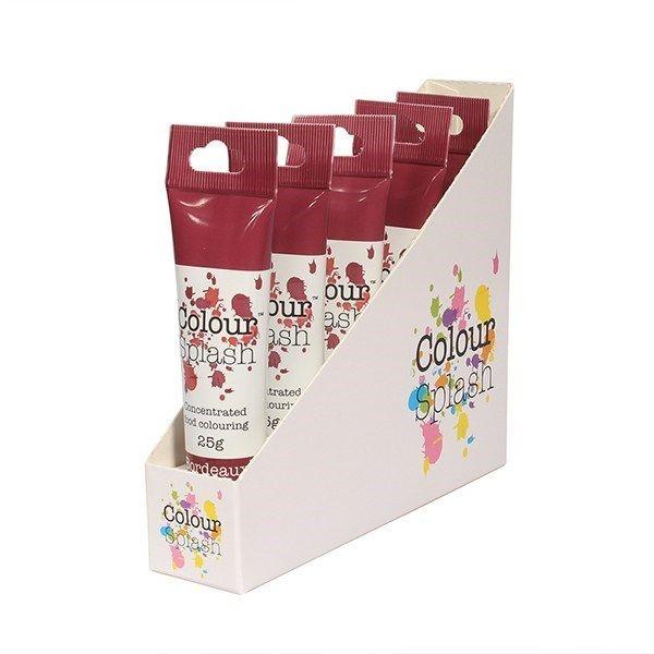 Colour Splash Gel - Bordeaux - 25g. Pack of 5. 75071