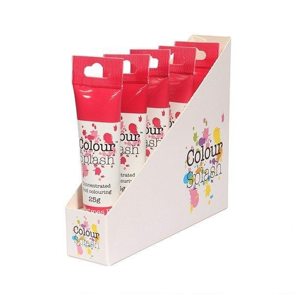 Colour Splash Gel - Christmas Red - 25g. Pack of 5. 75075