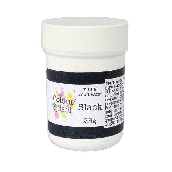 Colour Splash Edible Paint - Matt Black 25g. 75195