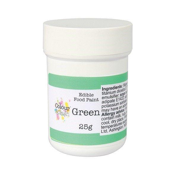 Colour Splash Edible Paint - Matt Green 25g. 75199