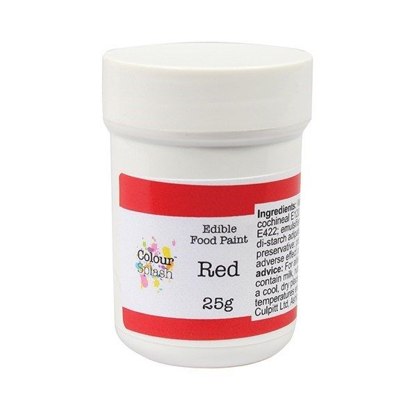 Colour Splash Edible Paint - Matt Red 25g. 75196