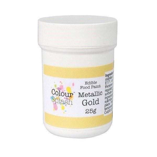 Colour Splash Edible Paint - Metallic Gold 25g. 75187