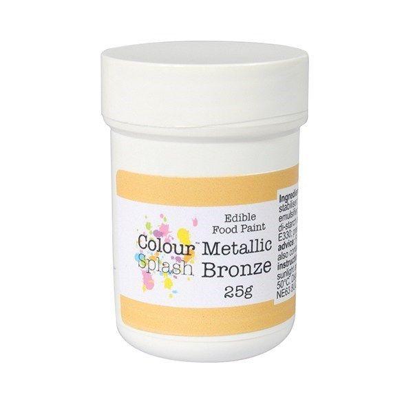 Colour Splash Edible Paint - Metallic Bronze 25g. 75188