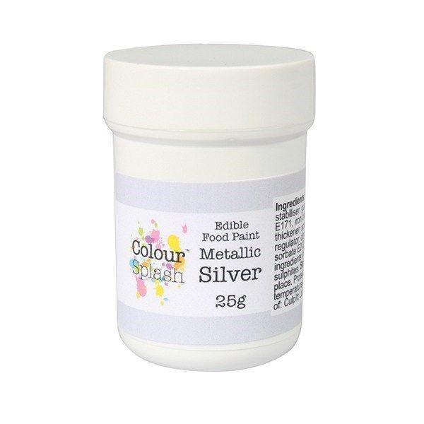 Colour Splash Edible Paint - Metallic Silver 25g. 75189