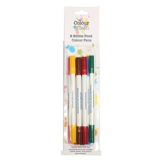 Colour Splash Food Colour Pens Assorted 8 Pack. 75043