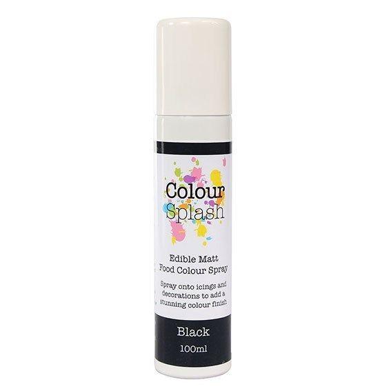 Colour Splash Edible Food Colour Spray Black 100ml. 75040