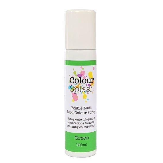 Colour Splash Edible Food Colour Spray Green 100ml. 75042