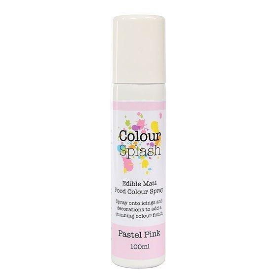 Colour Splash Edible Food Colour Spray Pastel Pink 100ml. 75038