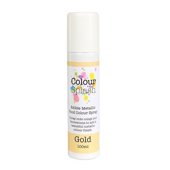 Colour Splash Edible Food Colour Spray Metallic Gold 100ml. 75030
