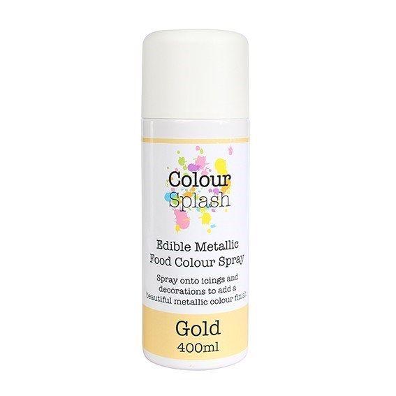 Colour Splash Edible Food Colour Spray Metallic Gold 400ml. 75026