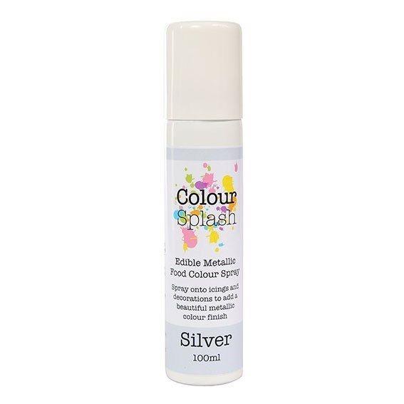 Colour Splash Edible Food Colour Spray Metallic Silver 100ml. 75031