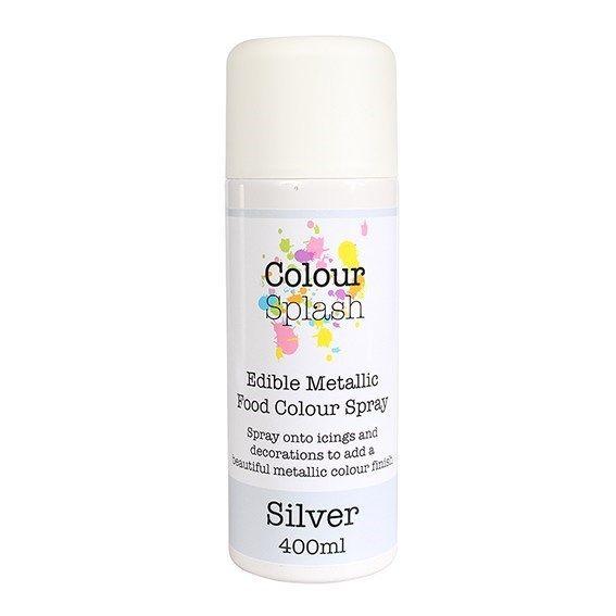 Colour Splash Edible Food Colour Spray Metallic Silver 400ml. 75027