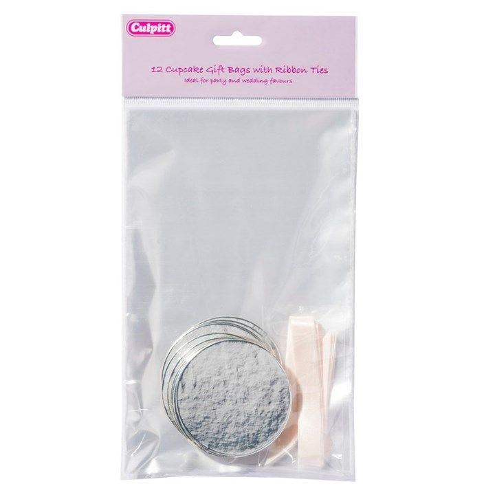 CULPITT Clear Cupcake Bag - 12 Piece. 15306