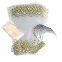 15316  Printed Metallic Spot Cupcake Bags With Ribbon Ties - 12 Piece