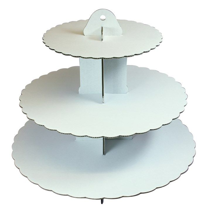 CULPITT 3 Tier White Cupcake Stand.  PACK OF 6.  9098