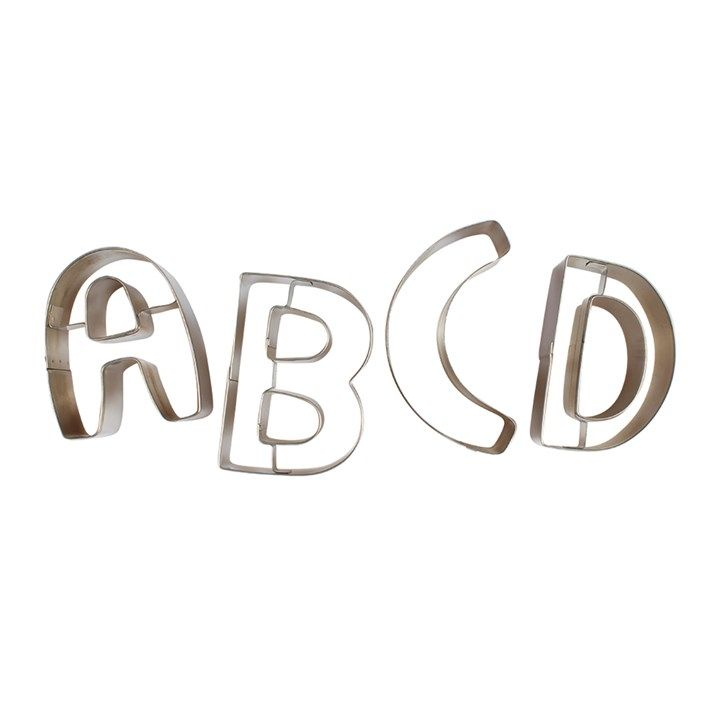 10376  Alphabet Metal Cutters - 26 Piece