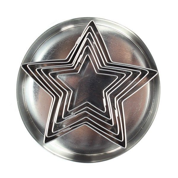 10486  Star Stainless Steel Cutters - 6 Pieces