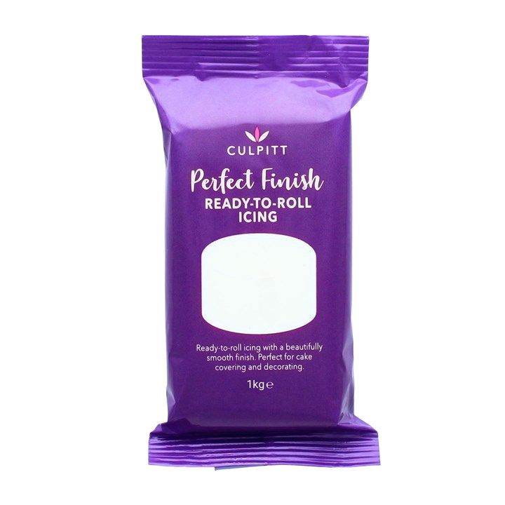 Culpitt Perfect Finish Ready To Roll Icing - Brilliant White 1kg - PACK OF 1. 647011