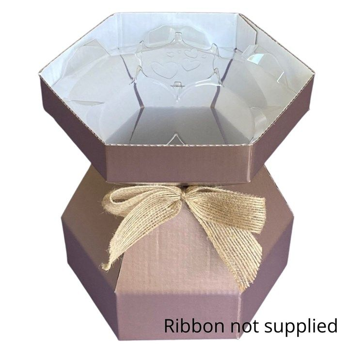 24991  Purple Cupcakes Cupcake Bouquet Box - Rose Gold