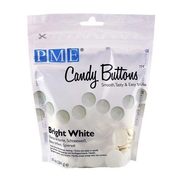 PME Candy Buttons Vanilla Bright White 284g. 44054
