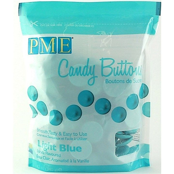 PME Candy Buttons Vanilla Light Blue 340g. 6057