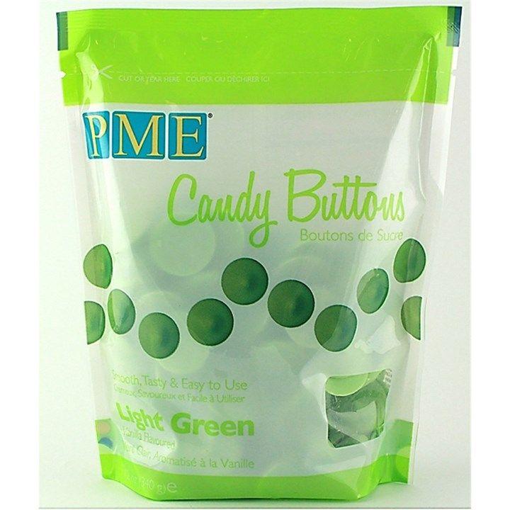 PME Candy Buttons Vanilla Light Green 340g. 6065