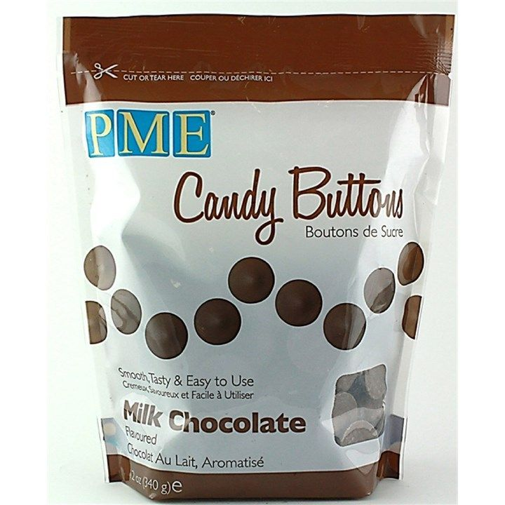 PME Candy Button Milk Chocolate 340g. 6060