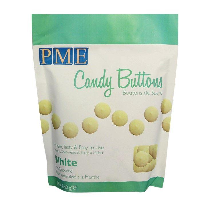 PME Candy Buttons Vanilla Choc White 340g. 6083