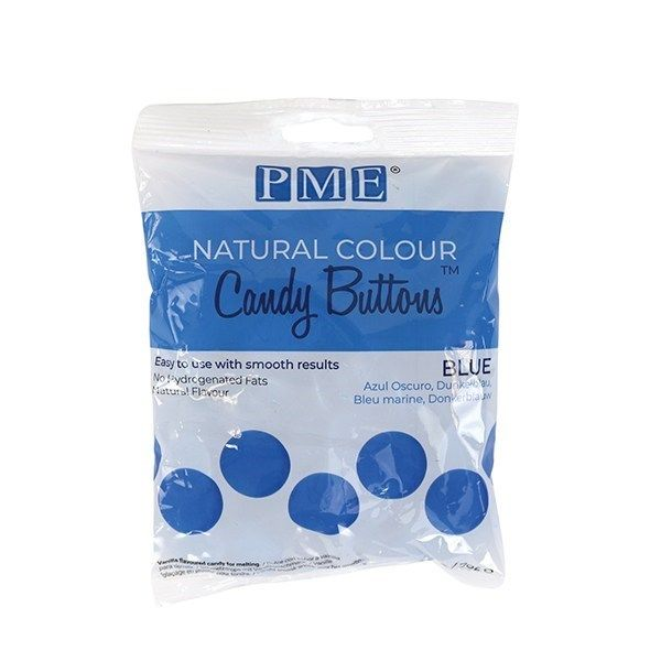 PME Natural Candy Buttons - Blue - 200g. 44075