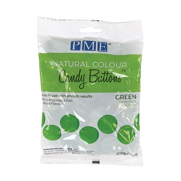 PME Natural Candy Buttons - Green - 200g. 44074