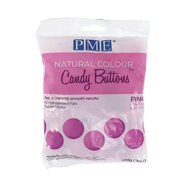 PME Natural Candy Buttons - Pink - 200g. 44076