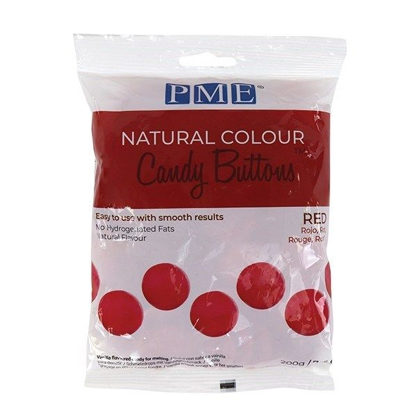PME Natural Candy Buttons - Red - 200g. 44071