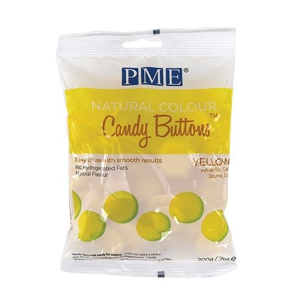 PME Natural Candy Buttons - Yellow - 200g. 44073