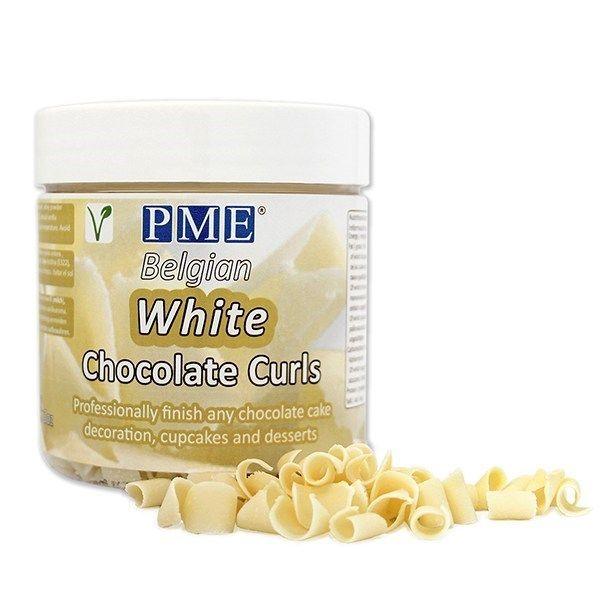 PME Chocolate Curls - White. 44052