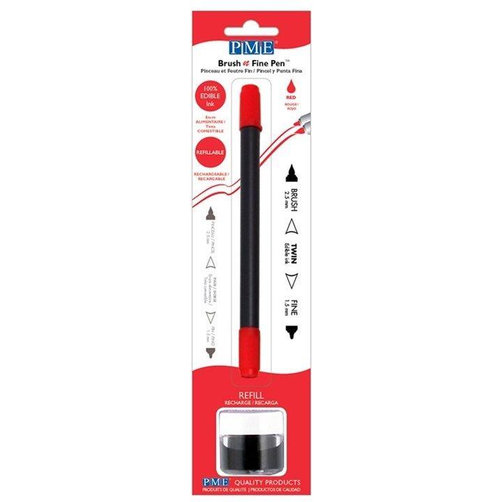 5586  PME Brush N Fine Pen Red