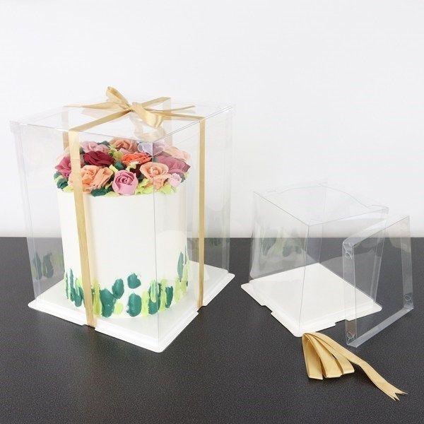 PME Crystal Cake Box - 6''. 90010