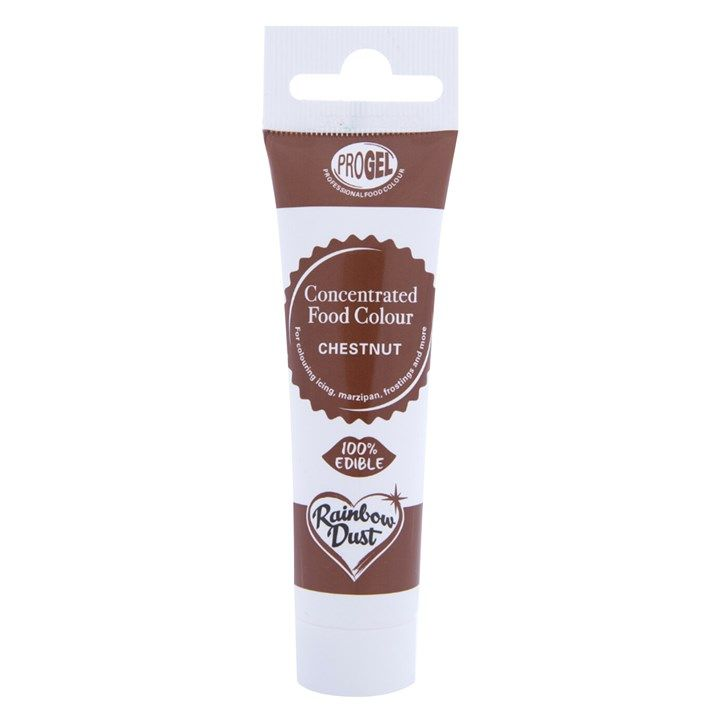 Rainbow Dust ProGel® Concentrated Food Colour Chestnut 25g. 55404