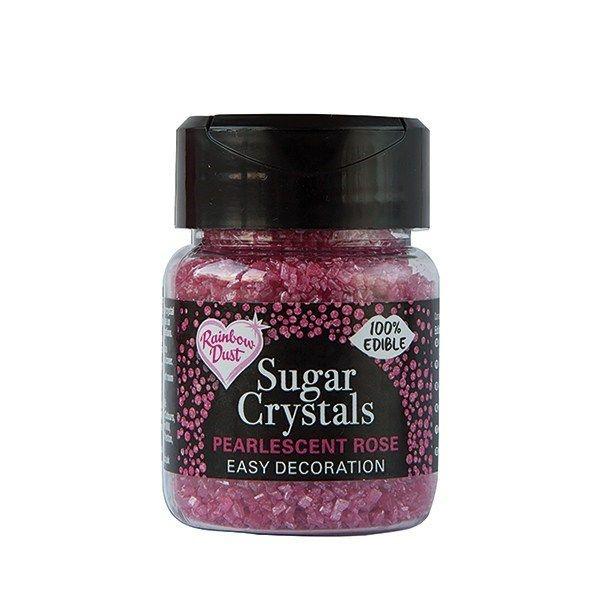 Rainbow Dust Sugar Crystals - Pearlescent Rose. 551840