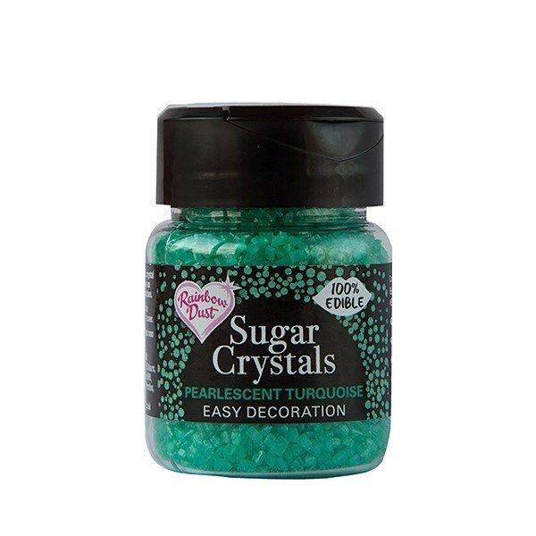 Rainbow Dust Sugar Crystals - Pearlescent Turquoise. 551750