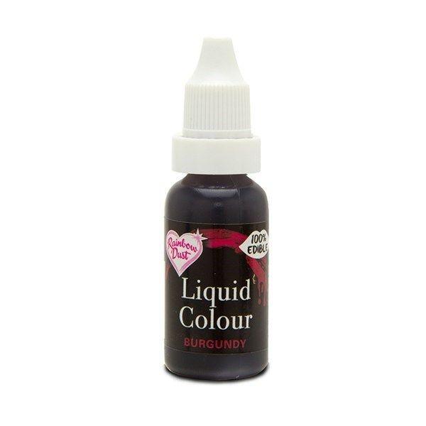 Rainbow Dust Liquid Colour - Burgundy - Loose Pot. 554920