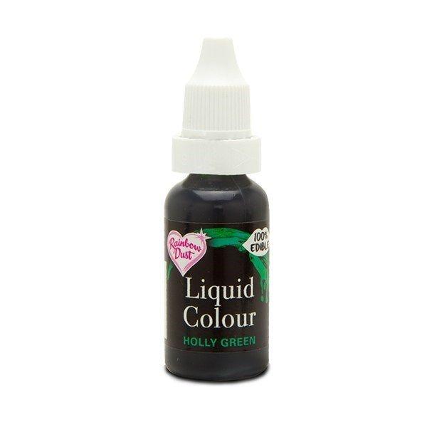554910  Rainbow Dust Liquid Colour - Holly Green - Loose Pot