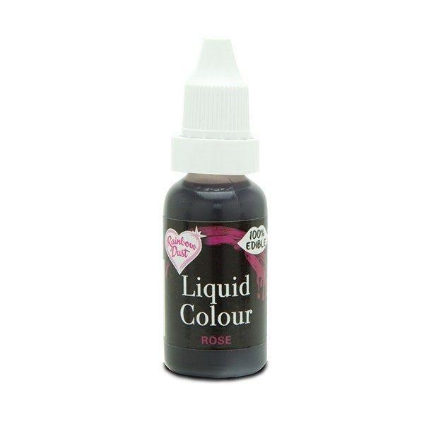 554850  Rainbow Dust Liquid Colour - Rose - Loose Pot