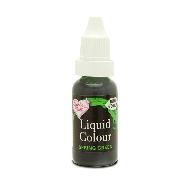 554840  Rainbow Dust Liquid Colour - Spring Green - Loose Pot