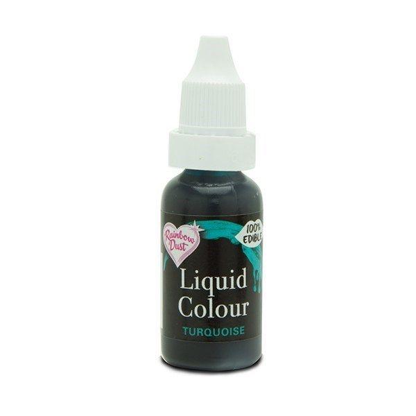 554830  Rainbow Dust Liquid Colour - Turquoise - Loose Pot